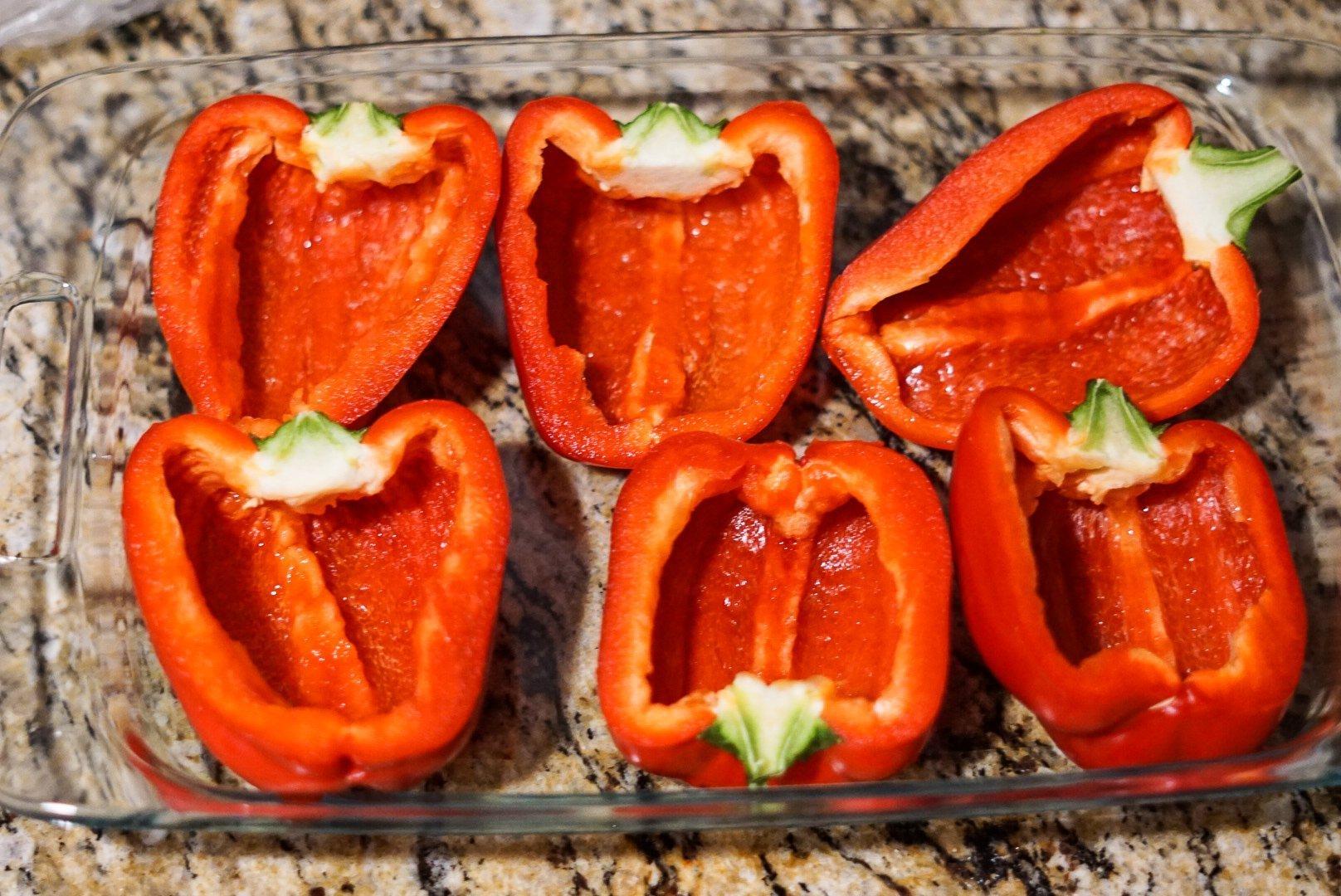Creamy Chicken Stuffed Peppers - Simply Madisynn