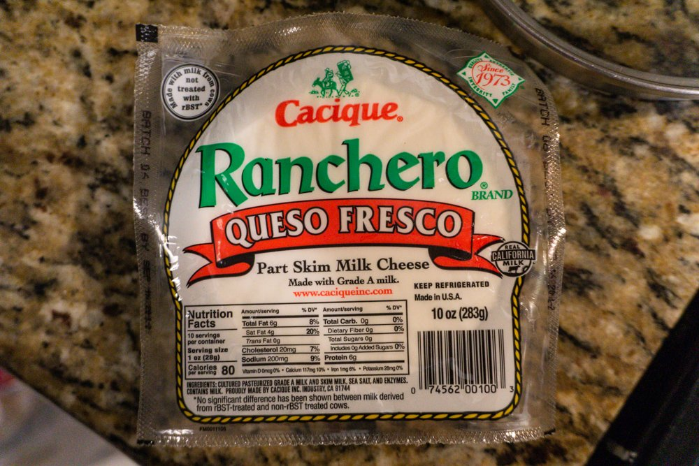 The Queso Fresco that was used